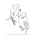 How to Draw a Swans in Love
