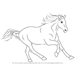 How to Draw a Cleveland Bay Horse