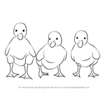 How to Draw Ducklings
