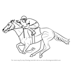 How to Draw a Racehorse with Jockey