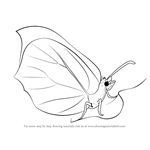How to Draw a Brimstone Butterfly