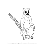How to Draw a Lemur Catta