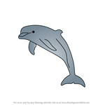 How to Draw a Bottlenose dolphin