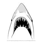 How to Draw Jaws Shark