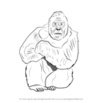 How to Draw a Western Lowland Gorilla