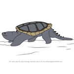 How to Draw Common Snapping Turtle