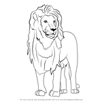 How to Draw an Asian Lion