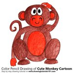 How to Draw a Cute Monkey Cartoon