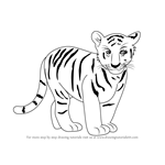 How to Draw Tiger Cub