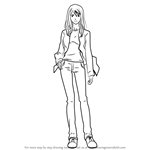 How to Draw Rika Noyamano from Air Gear