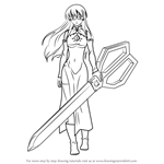 How to Draw Sheele from Akame Ga Kill