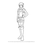 How to Draw Annie Leonhart from Attack on Titan