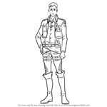 How to Draw Erwin Smith from Attack on Titan
