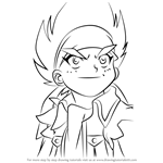 How to Draw Johnny McGregor from Beyblade