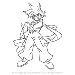 How to Draw Kai Hiwatari from Beyblade