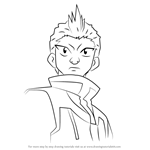 How to Draw Robert Jurgens from Beyblade