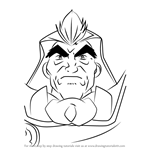 How to Draw Voltaire Hiwatari from Beyblade