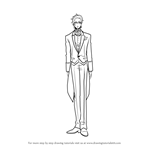 How to Draw Claude Faustus from Black Butler