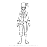 How to Draw Drossel Cainz from Black Butler