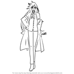 How to Draw Grell Sutcliff from Black Butler