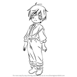 How to Draw Luka Macken from Black Butler