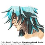 How to Draw Pluto from Black Butler