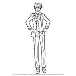 How to Draw Ronald Knox from Black Butler