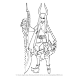How to Draw Black Gold Saw from Black Rock Shooter