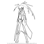 How to Draw Rock from Black Rock Shooter