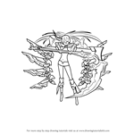 How to Draw White Rock Shooter from Black Rock Shooter