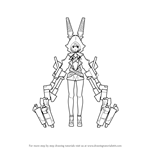 How to Draw Xnfe from Black Rock Shooter