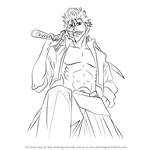 How to Draw Grimmjow Jaegerjaquez from Bleach