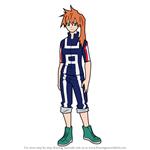 How to Draw Itsuka Kendo from Boku no Hero Academia