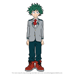 How to Draw Izuku Midoriya from Boku no Hero Academia