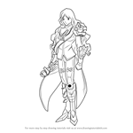 How to Draw Knight of Rose, Morgana from Cardfight!! Vanguard