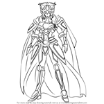 How to Draw Solitary Knight, Gancelot from Cardfight!! Vanguard