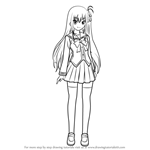 How to Draw Misa Kurobane from Charlotte