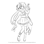 How to Draw Satone Shichimiya from Chuunibyou demo Koi ga Shitai!