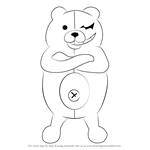How to Draw Monokuma from Danganronpa