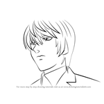 How to Draw Light Yagami from Death Note