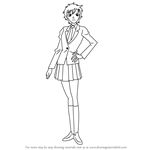How to Draw Masumi Sera from Detective Conan