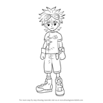 How to Draw Mikey Kudo from Digimon Fusion