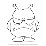 How to Draw King Nikochan from Dr. Slump