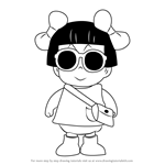 How to Draw Kinoko Sarada from Dr. Slump