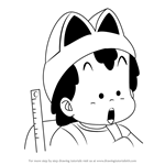 How to Draw Peasuke Soramame from Dr. Slump