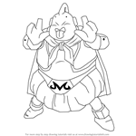 How to Draw Majin Boo from Dragon Ball Z