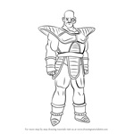How to Draw Nappa from Dragon Ball Z