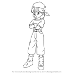 How to Draw Pan from Dragon Ball Z