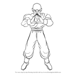 How to Draw Tien from Dragon Ball Z