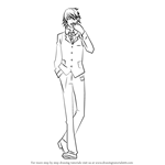 How to Draw Shizuo Heiwajima from Durarara!!